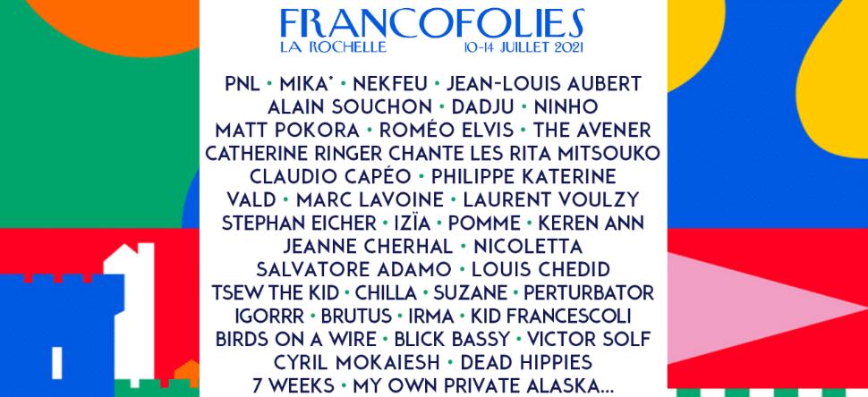 Découvrez les artistes Francofolies 2021